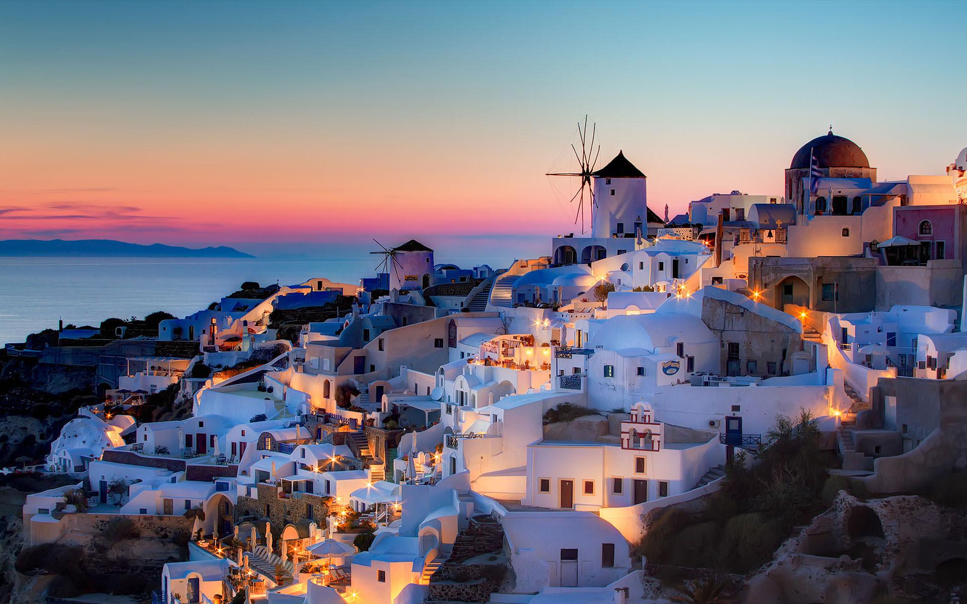 Карта с курортами Греции