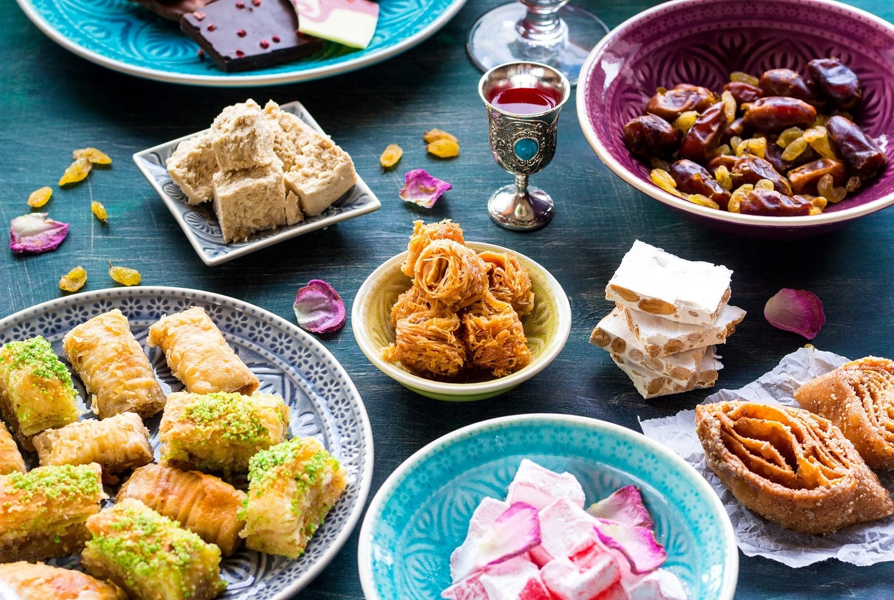 Сладости на праздновании окончания Рамадана