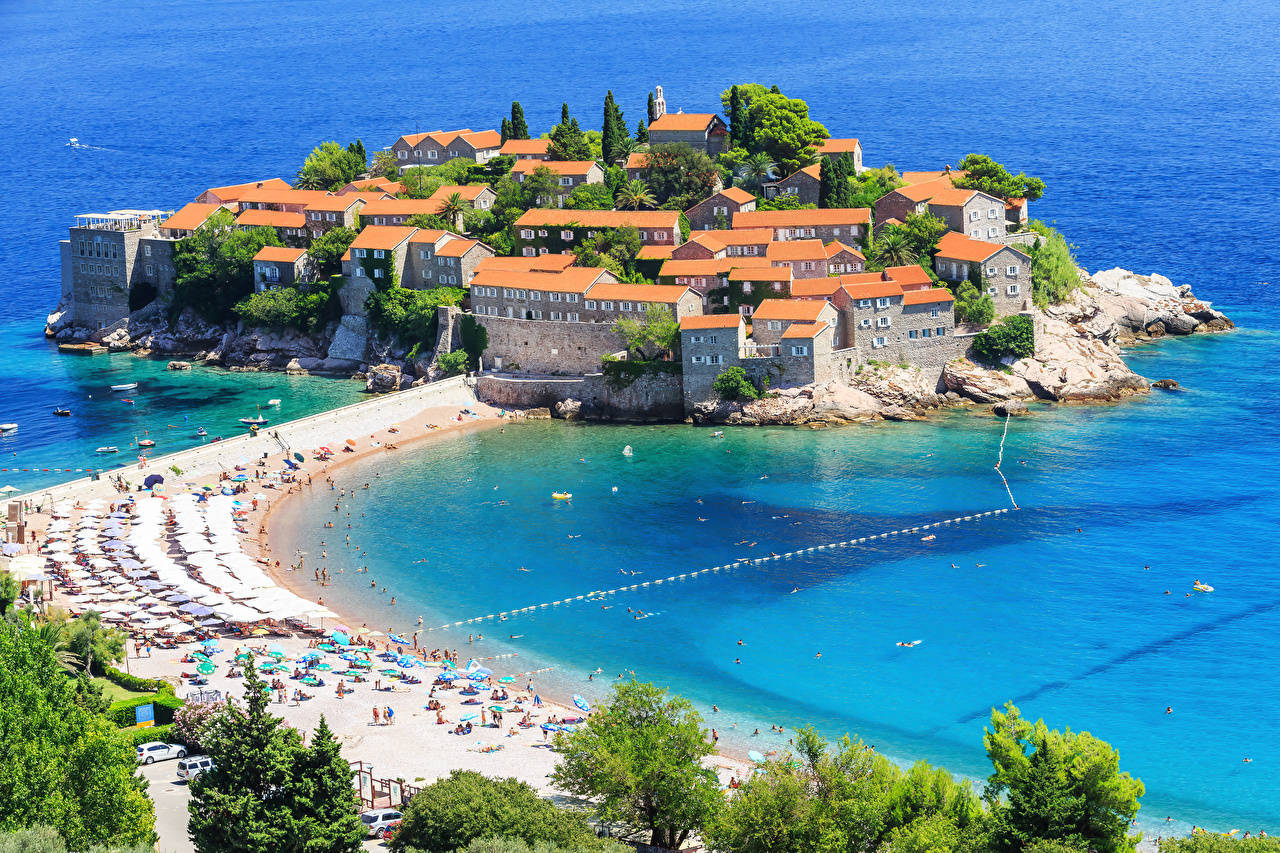 Черногория побережье пляж Budva