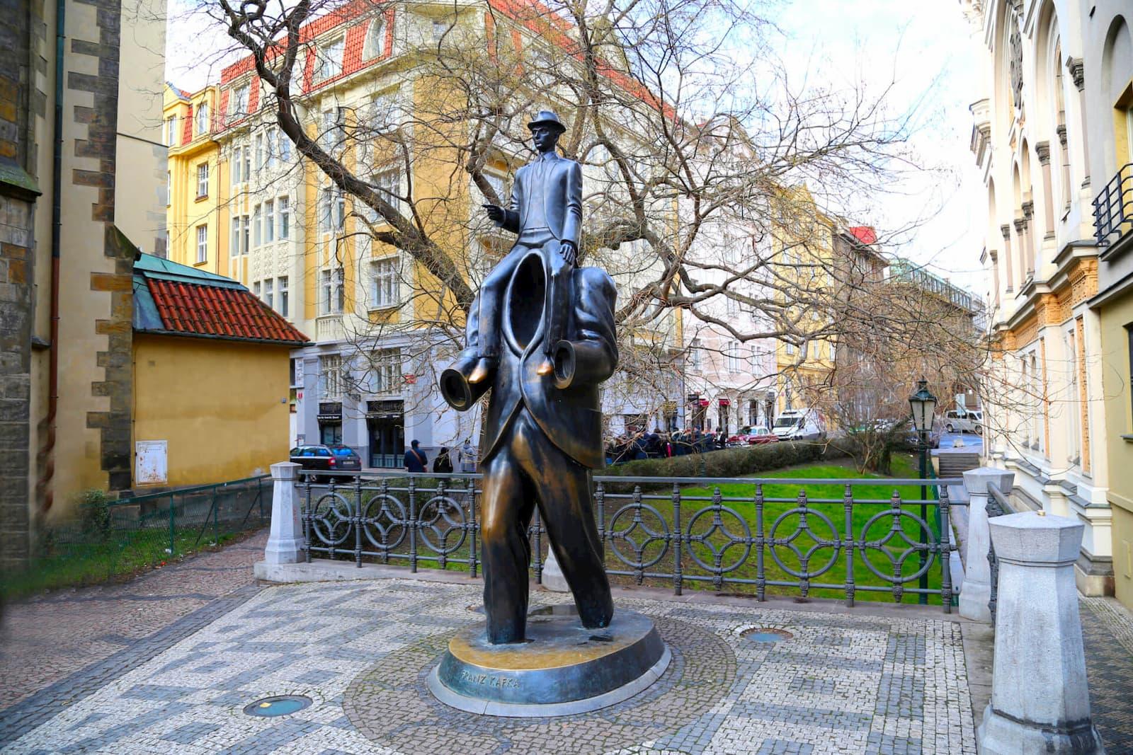 Монумент Франца Кафки в Еврейском квартале