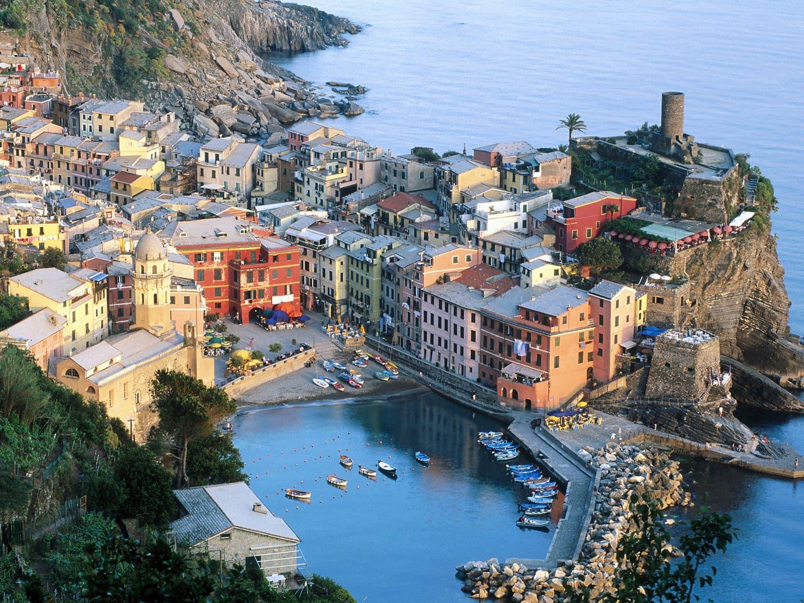 Карта Италии с популярными курортами