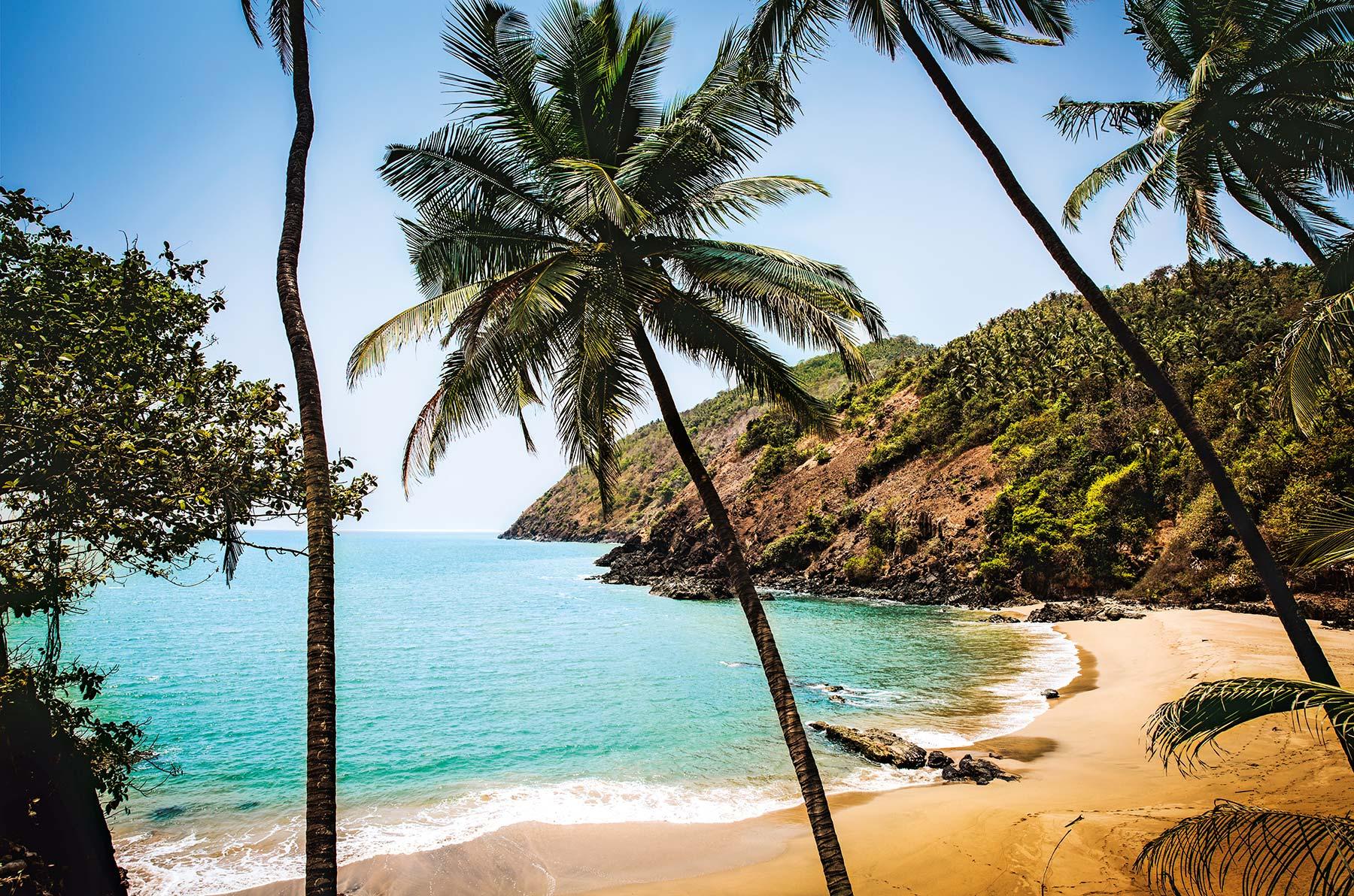 Один из множества пляжей на Гоа