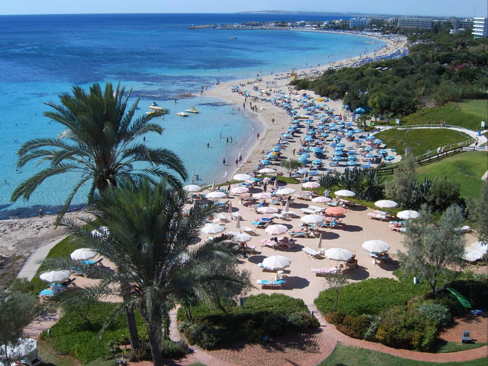 Карта курортов Кипра