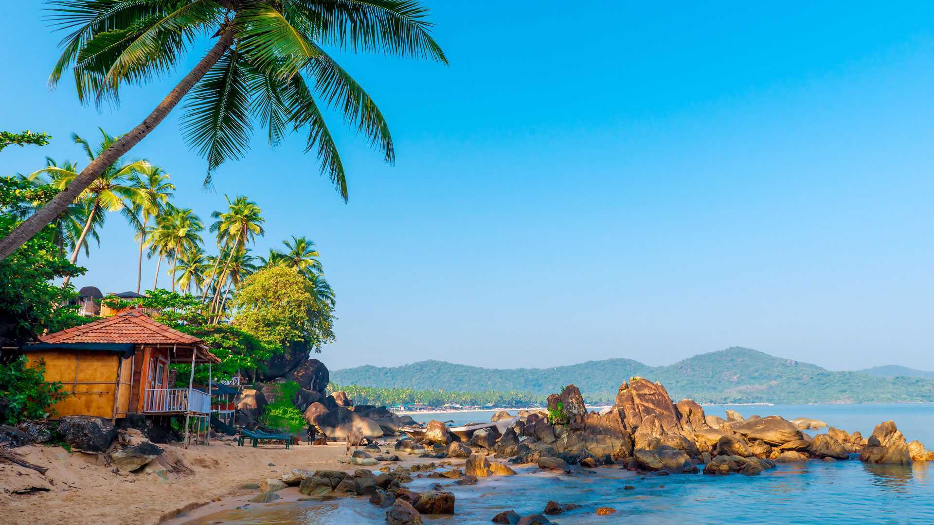 Один из множества пляжей в северном Гоа