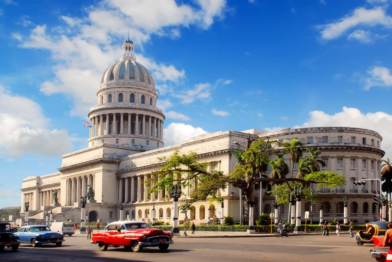 Здание парламента в Гаване, Куба.