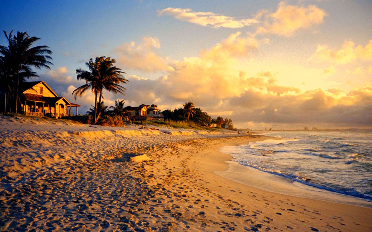 Пляж на Кубе в марте