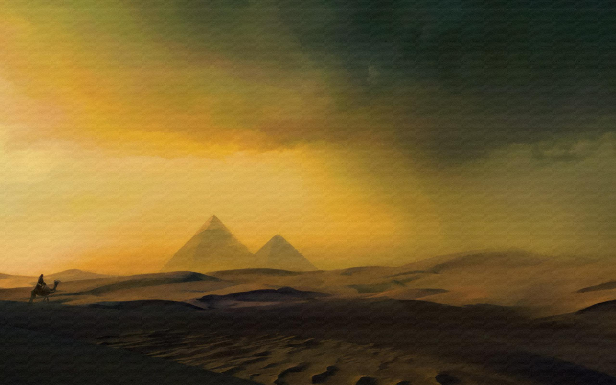Обои Песчаная буря в Египте